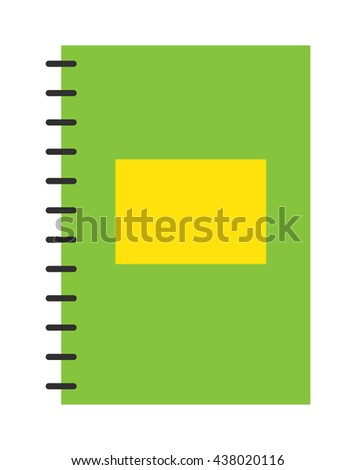 Planners notebook organizer diary paper note page business vector. Planners notebook organizer diary paper page and business planners notebook. Plannernotebook office school education. - stock vector