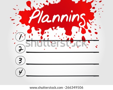 Planning blank list, business concept - stock vector