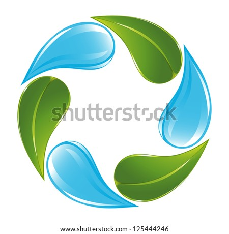 Plant and water cycle - stock vector
