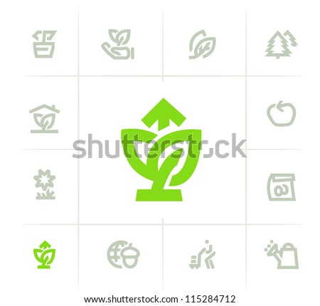 Plant Growing Icons - stock vector