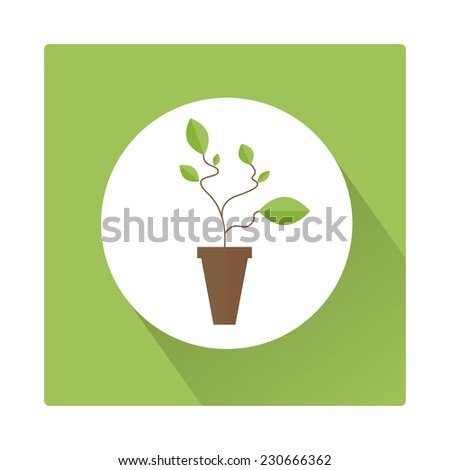 plant icon flat  - stock vector