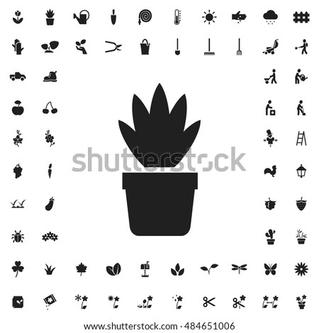 Plant icon illustration isolated vector sign symbol