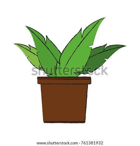 Plant Vase Stock Vector 761381932 Shutterstock