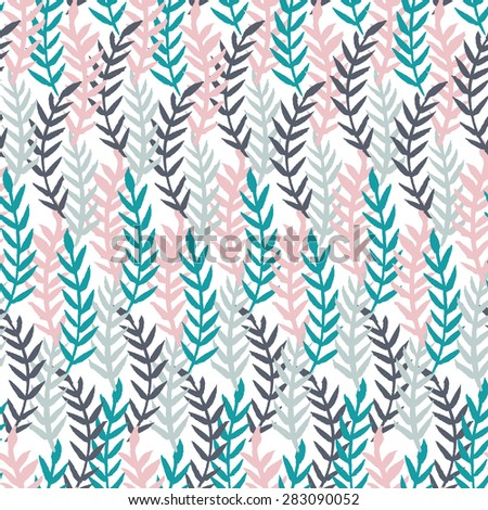 Plant seamless pattern. Vector illustration.  - stock vector