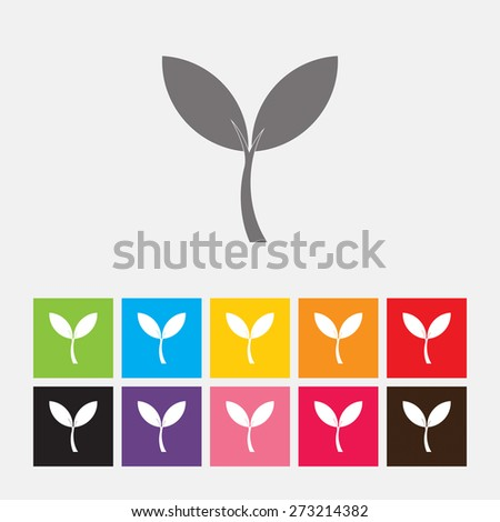 Plant sprout icon - Vector - stock vector