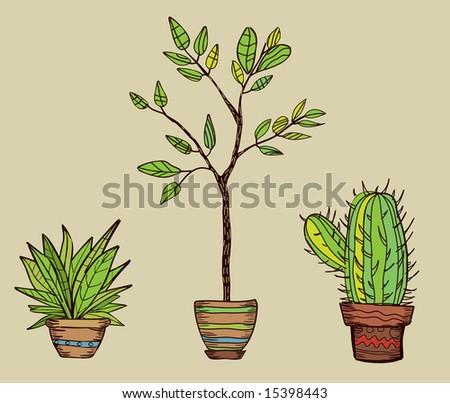 plants - stock vector