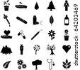 plants and medicine symbol set 2 - stock vector