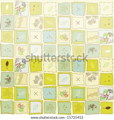 plants pattern - stock vector