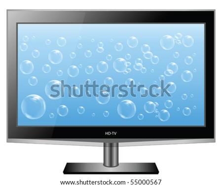 Plasma HD TV Wide Screen Vector - stock vector