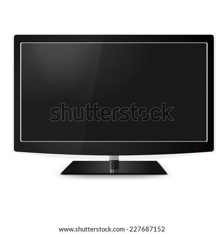Plasma,lcd realistic vector illustration,TV flat screen - stock vector