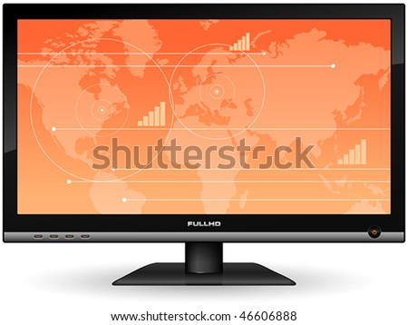 Plasma LCD TV - stock vector