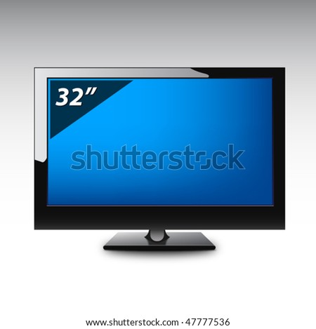 Plasma LCD TV. Vector. - stock vector