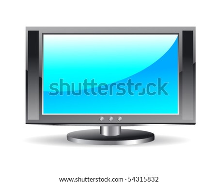 Plasma LCD TV. Vector - stock vector