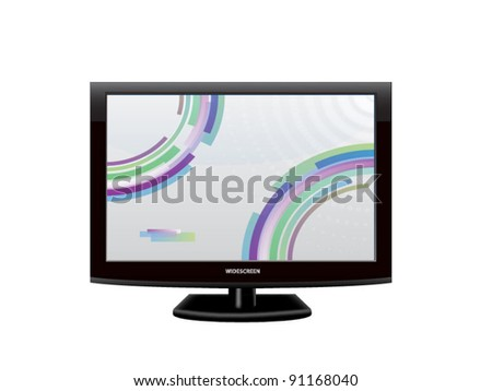 plasma, lcd widescreen tv. vector illustration - stock vector
