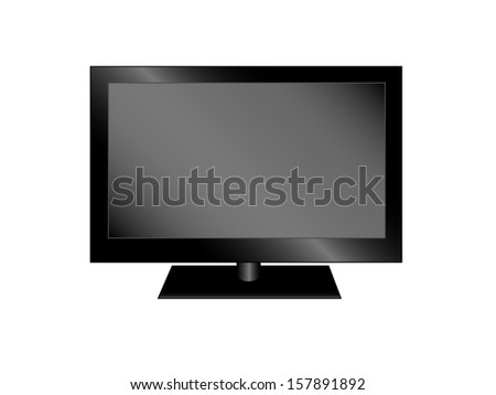 Plasma tv, realistic vector illustration