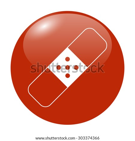 Plaster icon. Flat design styled. Flat design style eps 10 - stock vector