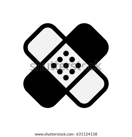 Plaster Band Aid Icon Medical Patch Stock Vector 631124138