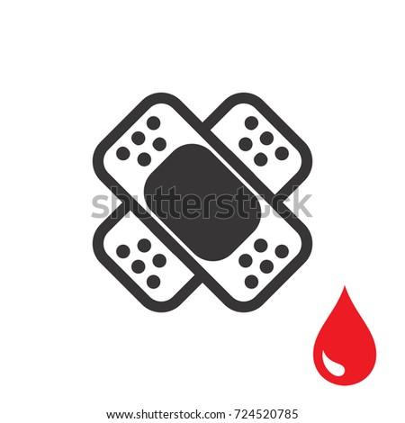 Plaster Band Aid Icon Medical Patch Stock Vector Hd Royalty Free