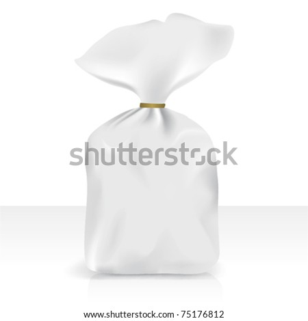 Plastic bag, vector for new design - stock vector