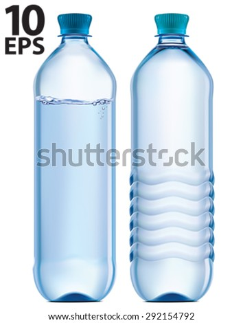 Plastic bottle of clean water. Vector illustration - stock vector