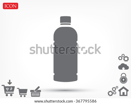 Plastic bottle. vector icon 10 EPS