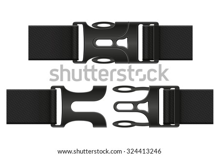 plastic buckle clasp vector illustration isolated on white background - stock vector