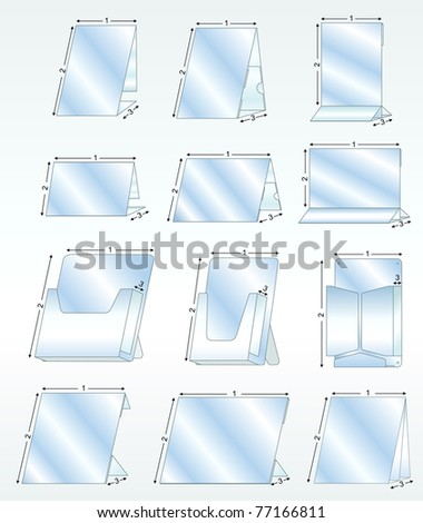 plastic business holder stands - stock vector