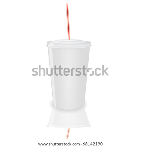 Plastic cup on a isolated background,vector