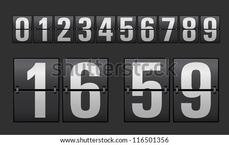 Plastic digits set