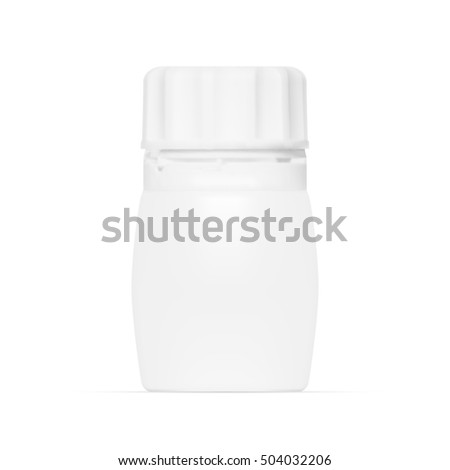 Plastic Jar With Cap On White Background. EPS10 Vector