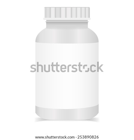 Plastic medical pills containers. - stock vector