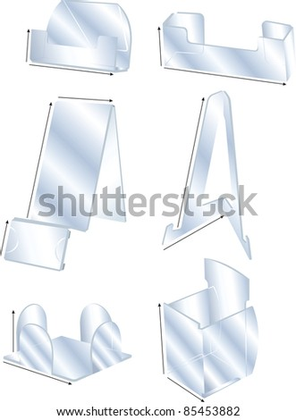 Plastic models sands - stock vector