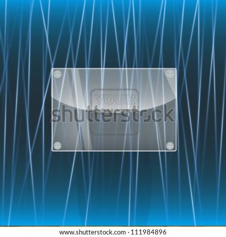 plastic post. vector design - stock vector