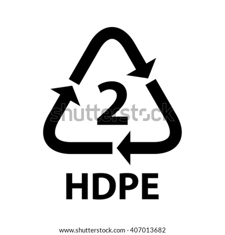 Plastic Recycling Symbol Hdpe 2 Vector Stock Vector Royalty Free