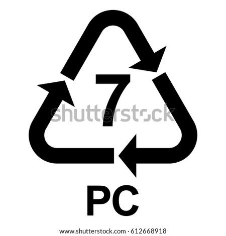 Plastic Recycling Symbol 7 Polycarbonate Plastic Stock Vector 2018