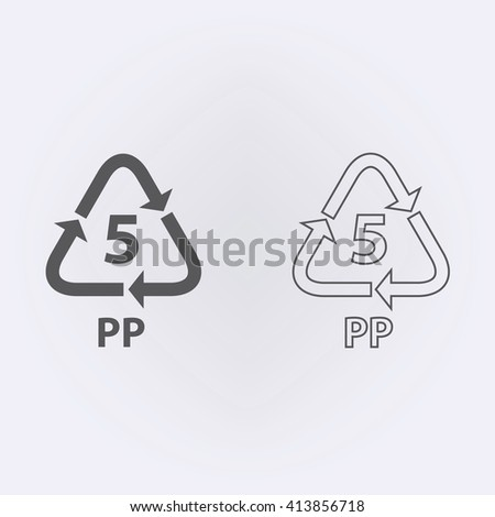 Plastic Recycling Symbol Pp 5 Vector Stock Vector 413856718