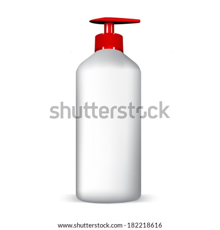 plastic Shampoo bottle isolated on white  - stock vector