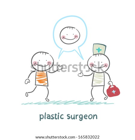 plastic surgeon says to the patient's facial surgery