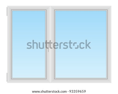 Plastic window - stock vector