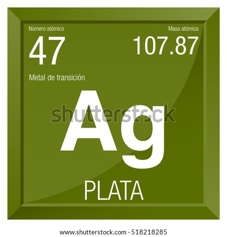 Plata symbol silver spanish language element stock vector 518218285 plata symbol silver in spanish language element number 47 of the periodic table of urtaz Image collections