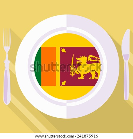 plate in flat style with flag of  - stock vector