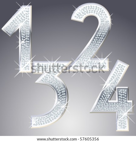 Platinum symbols inlaid of diamond crumbs - stock vector