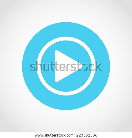 Play button Icon Isolated on White Background - stock vector