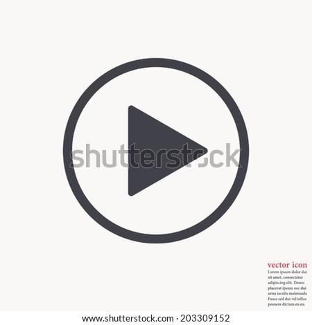 Play button icon ,Vector illustration  - stock vector