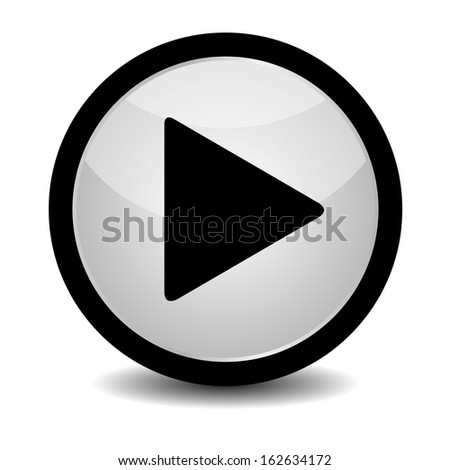 Play button - vector - stock vector