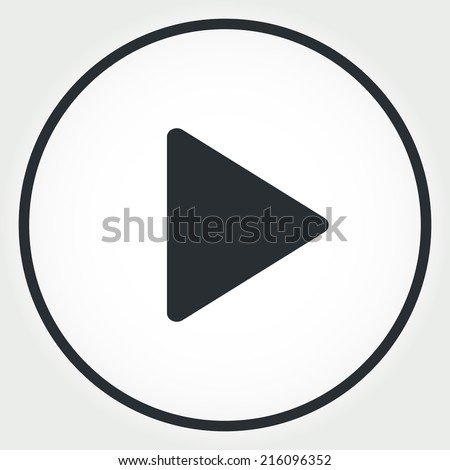 play icon vector - stock vector