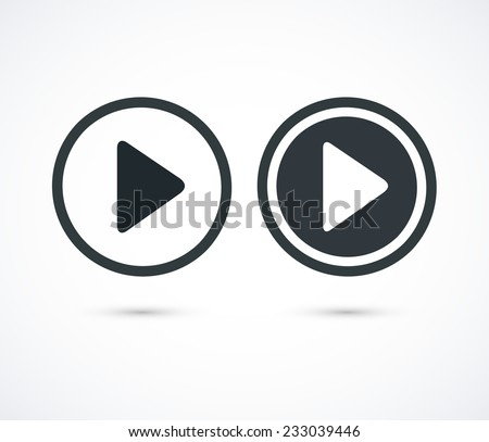 Play icons. Vector buttons - stock vector