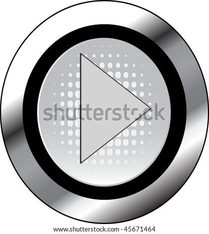 play sign icon button - stock vector