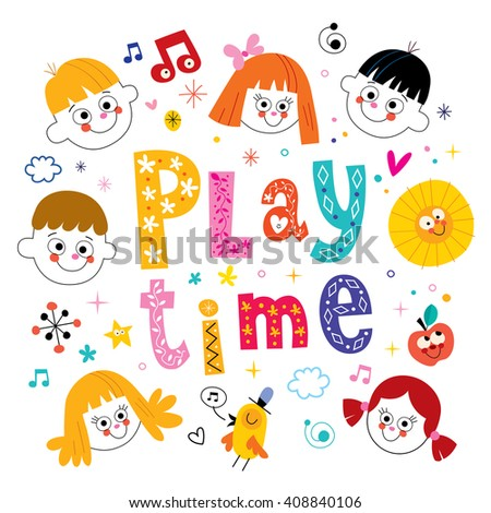 play time - stock vector