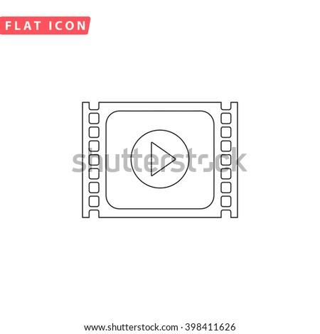 Player Icon Vector.  - stock vector